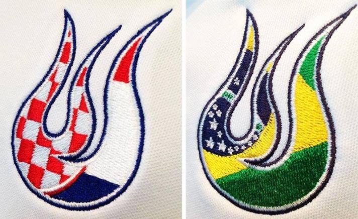 O detalhe que as camisetas de Ivan Dodig e Bruno Soares levarão para Wimbledon.