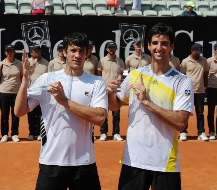 Facundo Bagnis e Thomaz Bellucci em Stuttgart, Alemanha.