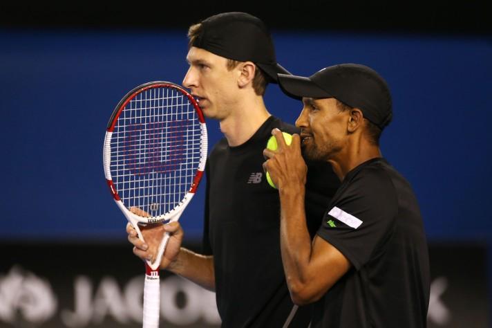 Eric Butorac e Raven Klaasen na final do Australian Open (Foto: Michael Dodge/Getty Images)