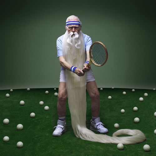 Leander Paes disputando Wimbledon 2046