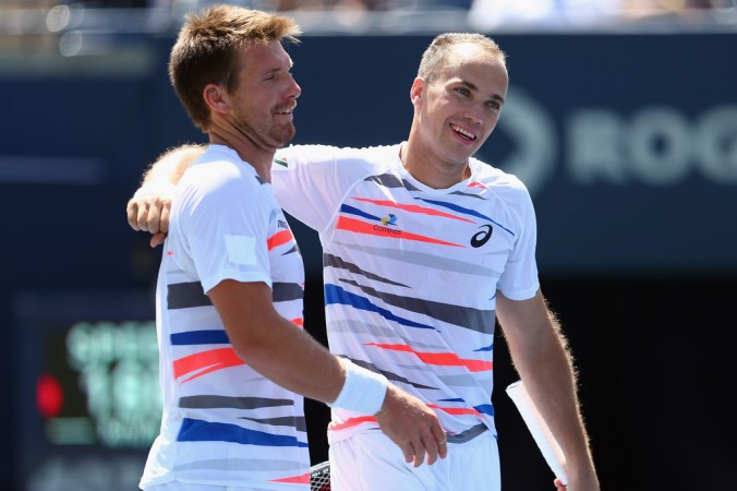 Alexander Peya e Bruno Soares em Toronto (Foto: Ronald Martinez/Getty Images North America)