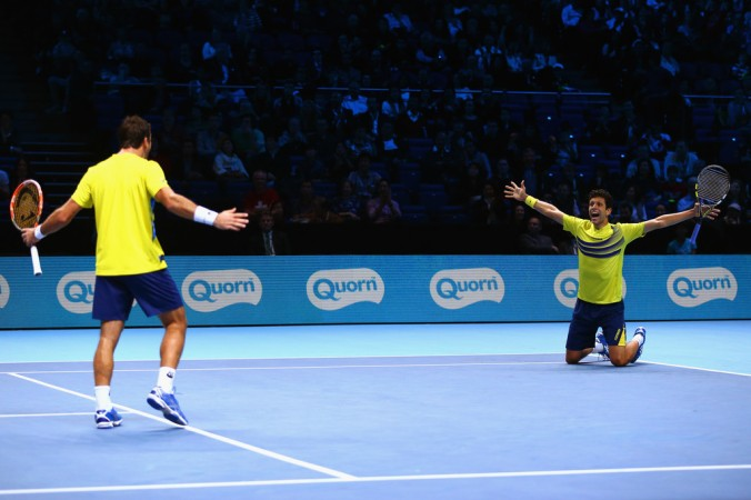 Marcelo Melo e Ivan Dodig no ATP Finals (Foto: Clive Brunskill/Getty Images Europe)