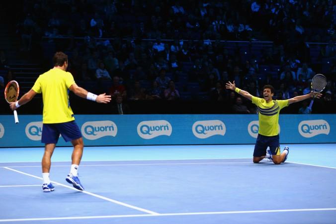 Marcelo Melo e Ivan Dodig no ATP Finals (Foto: Clive Brunskill/Getty Images Europe)
