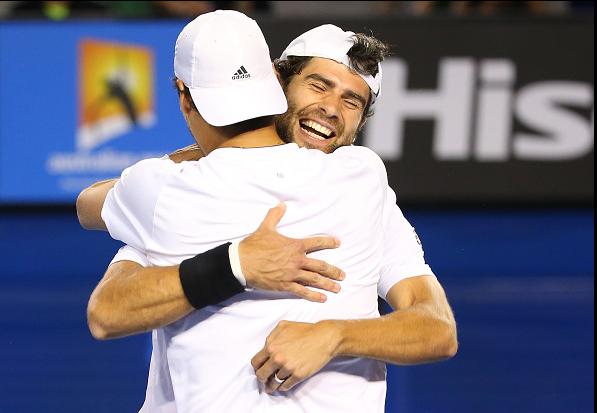 Bolelli e Fognini comemoram o título (Foto: Quinn Rooney/Getty Images)