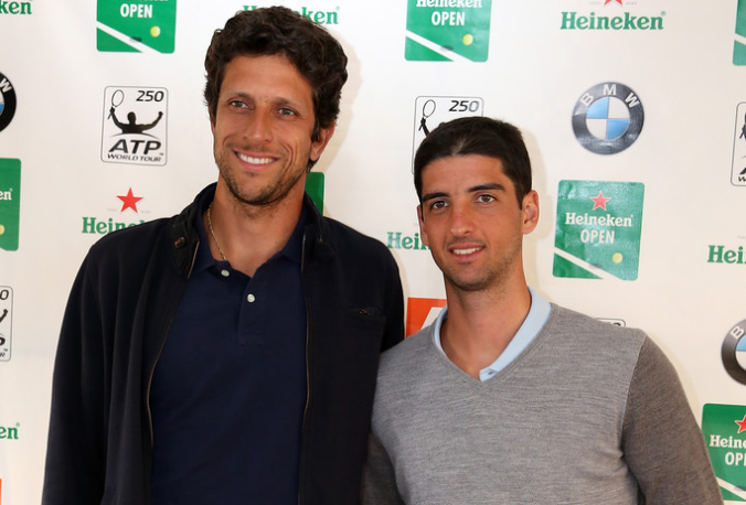 Marcelo Melo e Thomaz Bellucci. (Foto: Fiona Goodall/Getty Images AsiaPac)