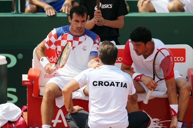 Ivan Dodig, Zeljko Krajan e Franko Skugor. (Foto: Cristiano Andujar)
